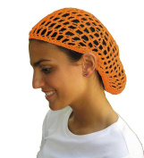Golden Hair Net - Snood - Crochet Hair Net Snood In Golden