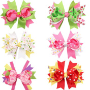 ROEWELL® Cute Baby's and Girl's Grosgrain Hair Bows Hair Clips Barrettes