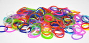 Silicone Rubber Bands Refill for Rainbow Loom-- 600 Pcs Pack with 24 C-clips -- Plus Extra 100 Magic Light Changing Bands & 20 Beads
