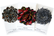 Shabby Chic Flower Hair Clips, Set of Three, Over 20 Colours (Trendy
