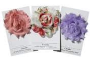 Shabby Chic Flower Hair Clips, Set of Three, Over 20 Colours (Feminine