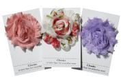 Shabby Chic Flower Hair Clips, Set of Three, Over 20 Colours (Feminine