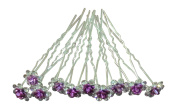 Shop Ginger Wedding Pack of 10 Rose Flower Crystal Rhinestones Hair Pins Bridal Veil