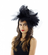 Flaunt It Feathered Fascinator Cocktail Hat with Headband