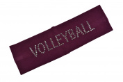VOLLEYBALL Rhinestone Cotton Stretch Headband for Girls Teens and Adults - Volleyball team gift ~Funny Girl Designs