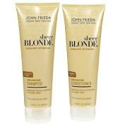John Frieda Sheer Blonde Highlight Activating Enhancing, DUO set Shampoo + Conditioner (for Lighter Blondes), 250ml, 1 each