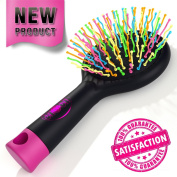 #1 Hair Brush - Detangle Hair Effortlessly & Pain-Free - Wet & Dry Brush - Adults & Kids - Black