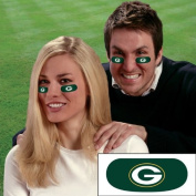 Party Animal Green Bay Packers Team Eye Black Strips- 3 Pairs