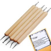 5pcs 2 Way Double Ended Nail Art Manicure Pedicure Dot Paint Dotting Pen Tool