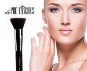 Premium Quality FLAT TOP KABUKI BRUSH with Beauty E-book. Foundation Brush - Blending Brush - Kabuki Brush - Cosmetic Brush - Face Brush.