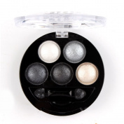 Mallofusa 5 Colours Eye Shadow Powder Metallic Shimmer Eyeshadow Palette