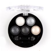 Mallofusa 5 Colours Eye Shadow Powder Metallic Shimmer Eyeshadow Palette