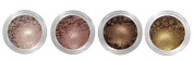 Grace My Face Minerals Glamour Quad Eye Shadow, All That Brown Shimmer