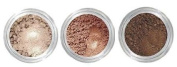 Grace My Face Minerals Glamour Eye Shadow, Soft Brown Trio