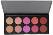BH Cosmetics 10 Colour Blush Palette, Glamorous