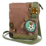 Chala Handbag Patch Crossbody SEA TURTLE Bag Canvas Messenger Mauve Purple
