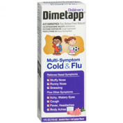 Dimetapp Children's Multi-Symptom Cold Flu Liquid Red Grape Flavour - 120ml