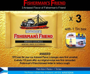 Fisherman's Friend Lozenges Aniseed Flavour Not Found in Fisherman's Friend U.S. (3 Flavours of Pack with 1 Mini Tin Boxes) Strong Taste and Effective for Extra Strong Cough Suppressant Lozenges and Tin Box Collectibles Set