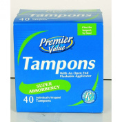Premier Value Tampon Cardboard Super - 40ct