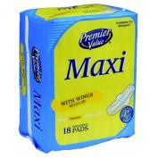 Premier Value Maxi Regular W/Wings - 18ct