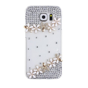 S6 Case, Galaxy S6 Bling Case, EVTECH(TM) 3D Handmade Fashion Crystal Rhinestone Bling Case Cover Hard Case Clear for Samsung Galaxy S6