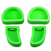 Base Moulds, 4pcs/1Set Dental Lab Plaster Model Base Moulds