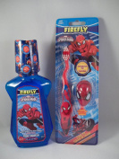 Firefly Spider-man 2 Pc Bundle - Bubblegum Mouthwash & Toothbrush w/ Cap