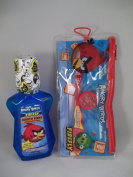 Firefly Angry Birds 2 Pc Bundle - Bubblegum Mouthwash & Travel Kit Toothbrush