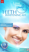 LoveYourSmile Teeth Whitening ★ Teeth Whitening Kit for Perfect Teeth ★ For Brighter, Whiter, Stain-Free Teeth ★ New Hydrogen Peroxide Formula For Reduced Sensitivity ★ 2x 5cc Whitening Gel Syringes, Professional Grade Mouth Trays,  ..