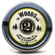 The Woods Man Beard Balm - Pine and Cedarwood - Essential Oil Scented Beard Conditioner Beard Balm by The 2Bits Man