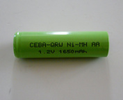 Combo 6 Pcs - Nimh 1.2V AA 1650/1700 Mah Flat Top Shaver Battery with Solder Tabs for Braun, Norelco, Remington Shaver Models