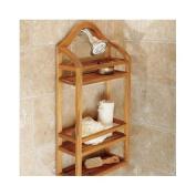teak wood shower shelf caddy 60cm
