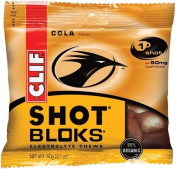 Clif SHOT Bloks Electrolyte Chewable Cubes Margarita -- 12 Packets
