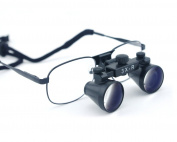 Dental Lab Surgical Medical Ultra-light Binocular Optical Loupes Metal Frame Black Colour 360-460mm Working Distance - 3.0X Magnifier Glasses