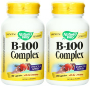 Nature's Way Vitamin B-100 Complex, 100 Capsules