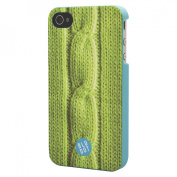 BluDot Cable Knit Cell Phone Case for iPhone 4/4S - Green