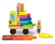 Melissa & Doug Stack And Count Forklift Playset