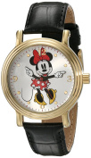 Women's Disney Minnie Mouse Shinny Vintage Articulating Watch with Alloy Case - Black/Gold