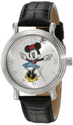 Women's Disney Minnie Mouse Shinny Vintage Articulating Watch with Alloy Case - Black/Silver