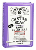 J.R. Watkins Pure Castile Bar Soap, Lavender, 240ml