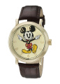 Men's Disney Mickey Mouse Shinny Vintage Articulating Watch with Alloy Case - Brown/Gold