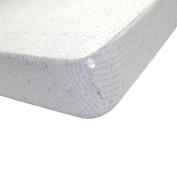 Burt's Bees Baby(TM) Organic Alphabet Bee Knit Crib Sheet - Grey