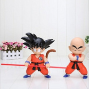 Anime Dragon Ball Z Goku Kuririn PVC Action Figure Dragonball 2 Pcs/set Toys Doll Kids Gift