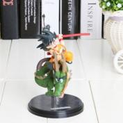 Dragon Ball Z Super Saiyan Goku with Dragon Riding PVC Action Figures Collection Model 14cm Toys Doll Kids Gift
