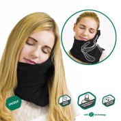 Trtl NapScarf - Scientifically Proven Neck Support, Multi Award Winning Travel Neck Pillow - BLACK