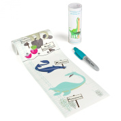 Talltape ('Prehistoric Creatures') - Portable, Roll-up Height Chart Plus 1 Sharpie Mini Marker Pen To Measure Children From Birth To Adulthood - Choice of 7 Designs