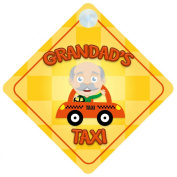 Grandads Taxi On Board Car Sign New Baby / Child Gift / Present / Baby Shower Surprise