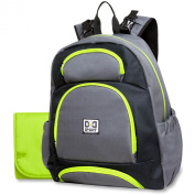 Nappy Dude Sport Backpack Nappy Bag by Chris Pegula - Grey Colorblock