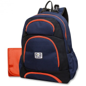 Nappy Dude Sport Backpack Nappy Bag by Chris Pegula - Navy/Black Colorblock