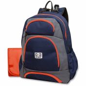 Nappy Dude Sport Backpack Nappy Bag by Chris Pegula - Navy/Grey Colorblock